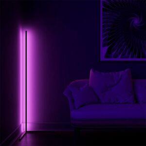 LED21 LED RGB podlahová stojací lampa s ovladačem stmívatelná, 20W, bílá